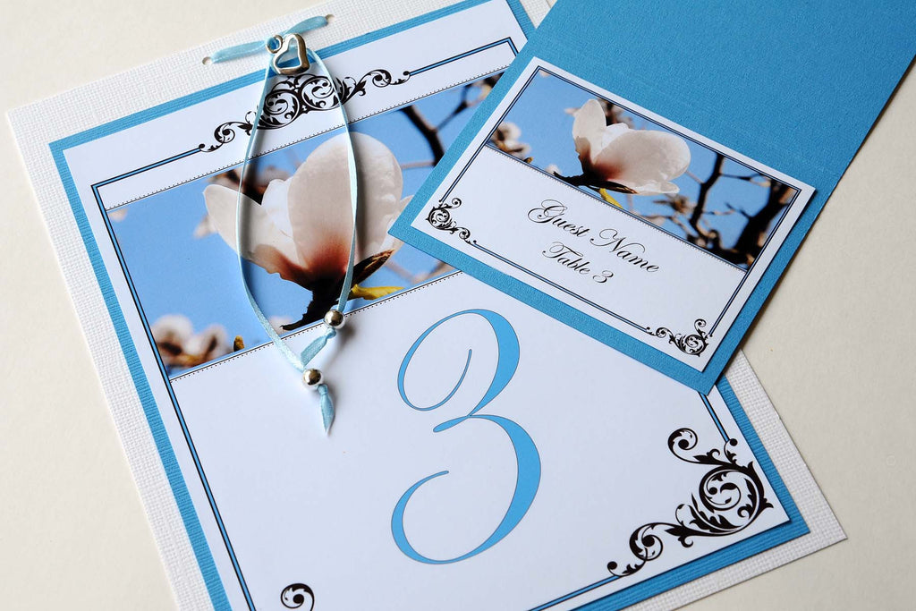 Wedding Stationery - Table Numbers - Pacific Dogwood