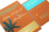 Turquoise & Copper Palm Tree Glitter Beach Destination Wedding Invitation and RSVP Suite