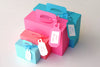 Set of 10 Mini 2 Suitcase Boxes / Luggage Boxes Destination Wedding / Party Favor Boxes