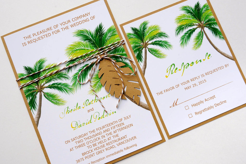 palm trees wedding invitations - Gidiye.redformapolitica.co