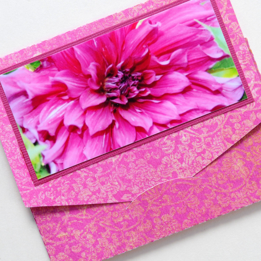 Gift Card Holder - Pink Dahlia