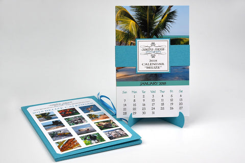 2018 Calendar with Folder and Stand - Belize