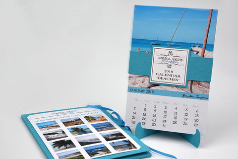 2018 Calendar with Folder and Stand - Beaches