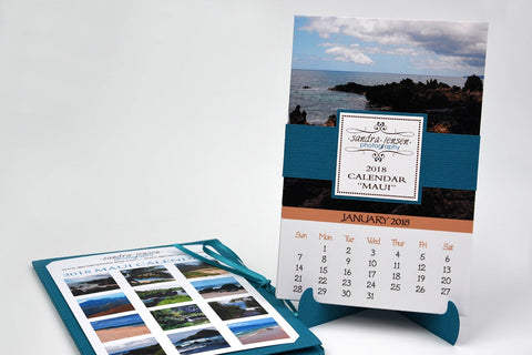 2018 Calendar with Folder and Stand - Maui