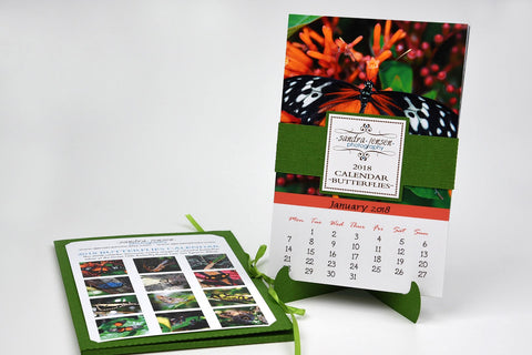 2018 Calendar with Folder and Stand - Butterflies from Belize