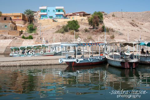 Print - Egypt - Aswan Harbour to Philae Temple