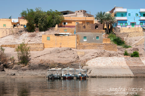 Print - Egypt - Aswan Harbour to Philae Temple 2