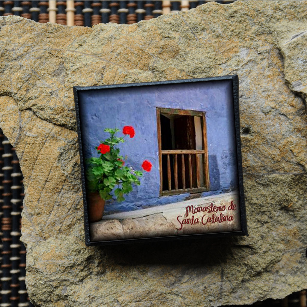 Mini Canvas Magnet - Santa Catalina Monastery