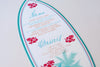 Tropical Hawaiian Beach Surfboard Palm Tree Menu - Wedding/Special Event/Occasion