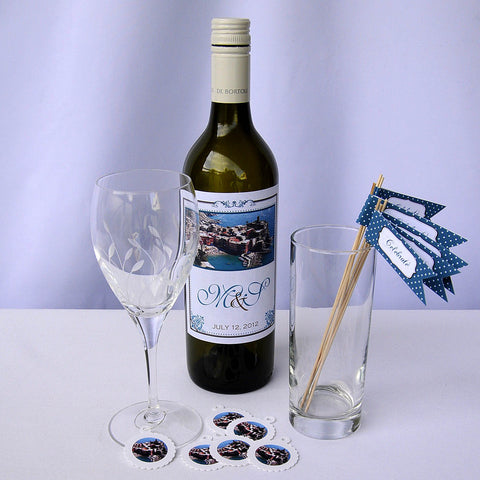 Wine Bottle Labels - Cinque Terra