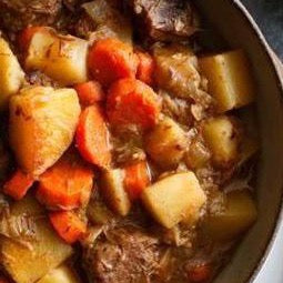 Frozen Quarts of Stew - Comforting beef stew with carrots, potatoes, parsnips, onions, garlic, red wine, rosemary, and thyme (Dairy Free & GF) *