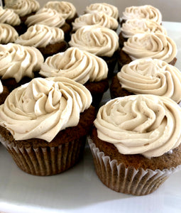 Buckwheat cupcakes with brown sugar buttercream (gluten free)