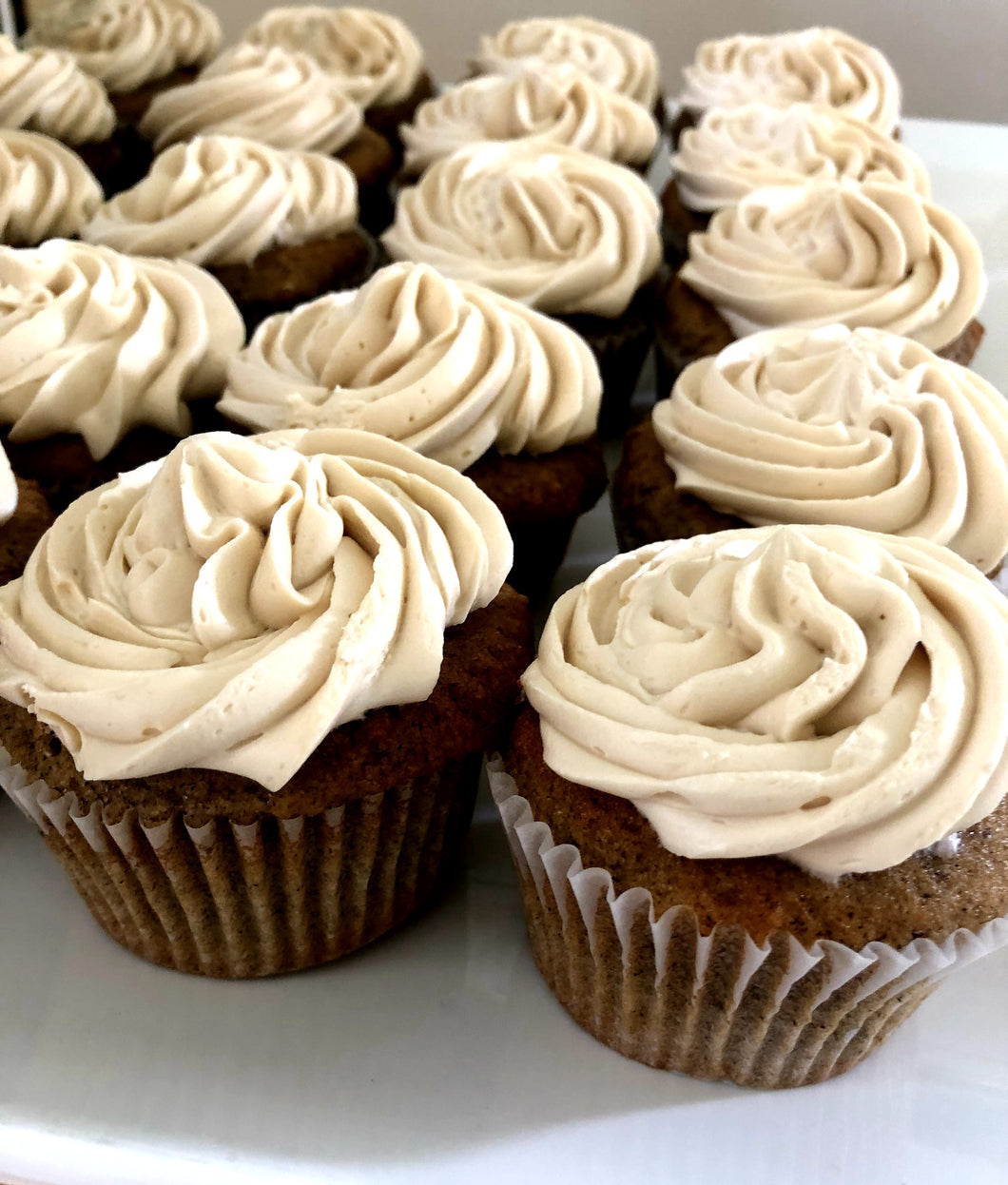 Tiny buckwheat cupcakes with brown sugar buttercream (GF)
