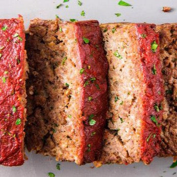 Frozen - Turkey meatloaf with tomato garlic sauce: 10 4-oz portions (GF & Dairy Free) *