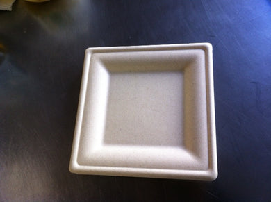 Paper Hors D'oeuvre or Cake Plates, Untreated square