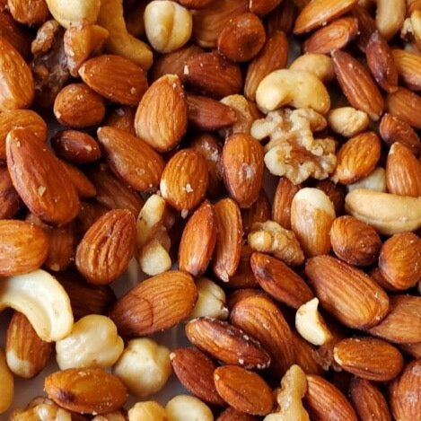 1 Quart Toasted Salted Almonds, Cashews, Walnuts and Hazelnuts *