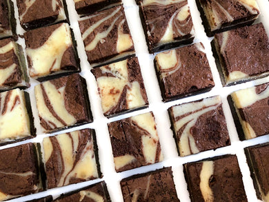 Layered cream cheese brownies *