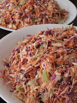 Maple sesame cole slaw