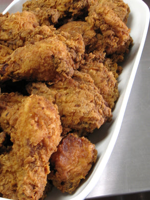 Picnic Fried Chicken, brined in buttermilk, garlic and herbs *