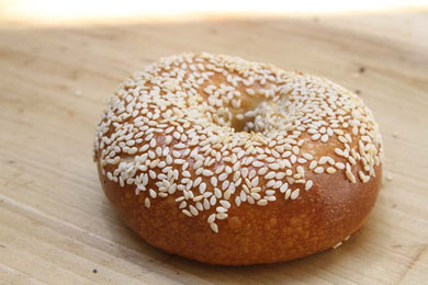 Baron's Sesame Bagels 6 pack, frozen pre-sliced *