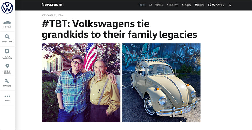 Our vintage VW story — featured by Volkswagen of America, Inc