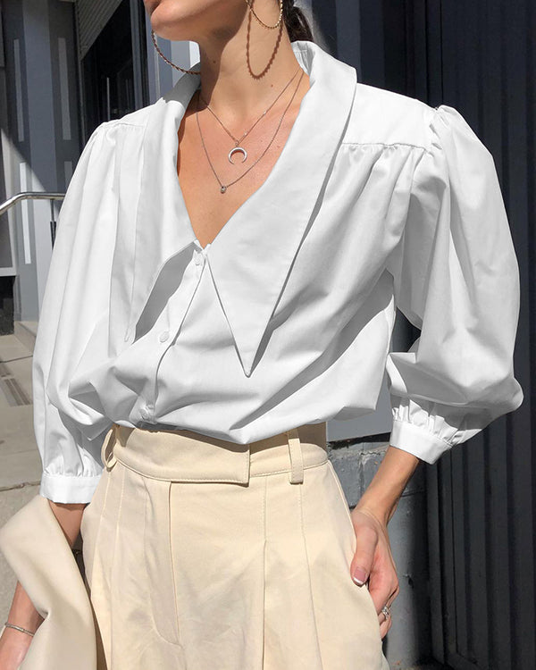 Inga Blouse in White by Closed Caption Collection 01