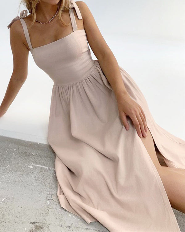 Margareta Dress in Sand by Closed Caption Collection 01