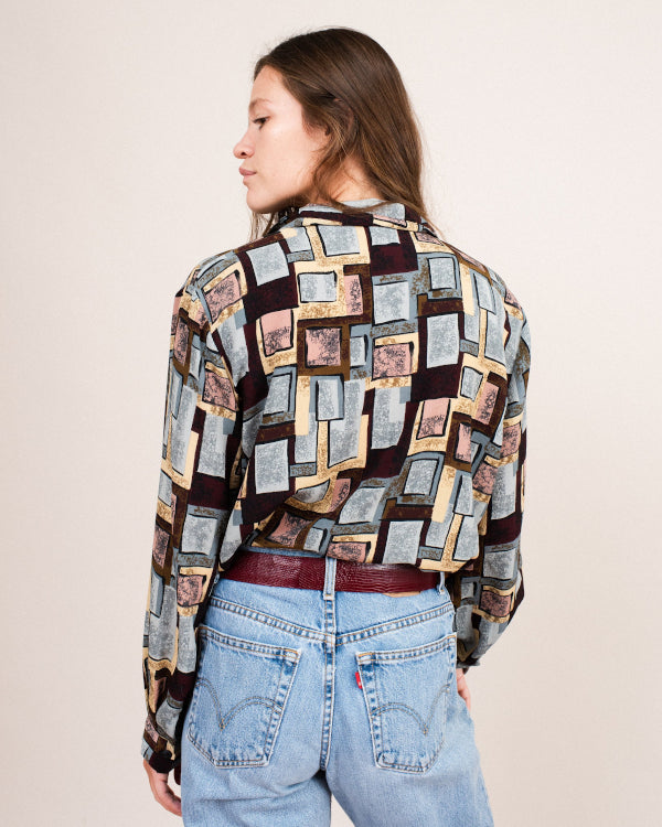 Abstract Blouse By Closed Caption