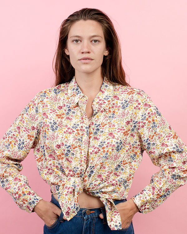 Small Floral Pattern Blouse By Closed Caption