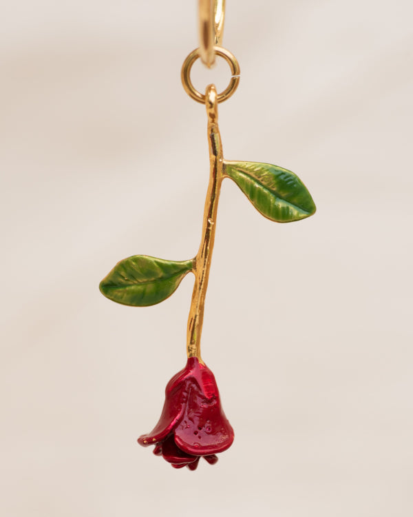 Bachelor Rose Earring By Closed Caption