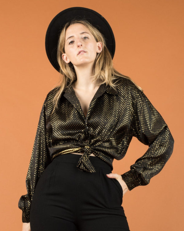 Metallic Blouse By Closed Caption