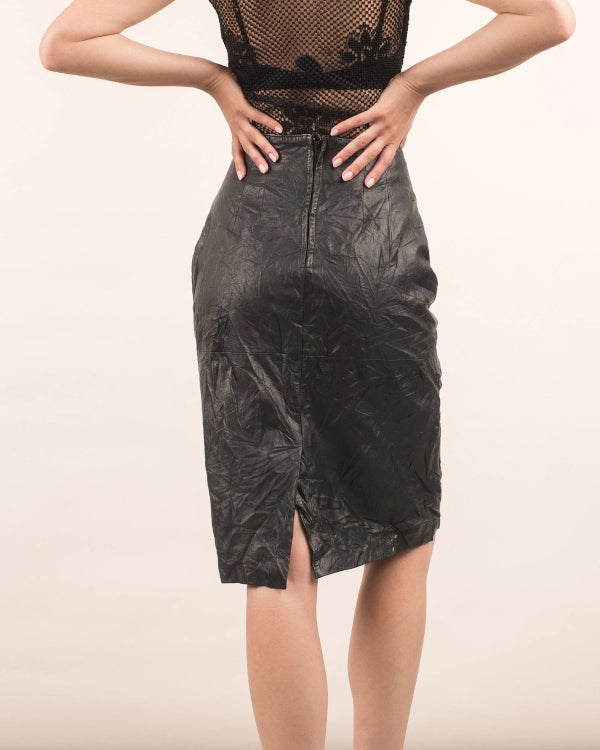Leather Skirt By Closed Caption