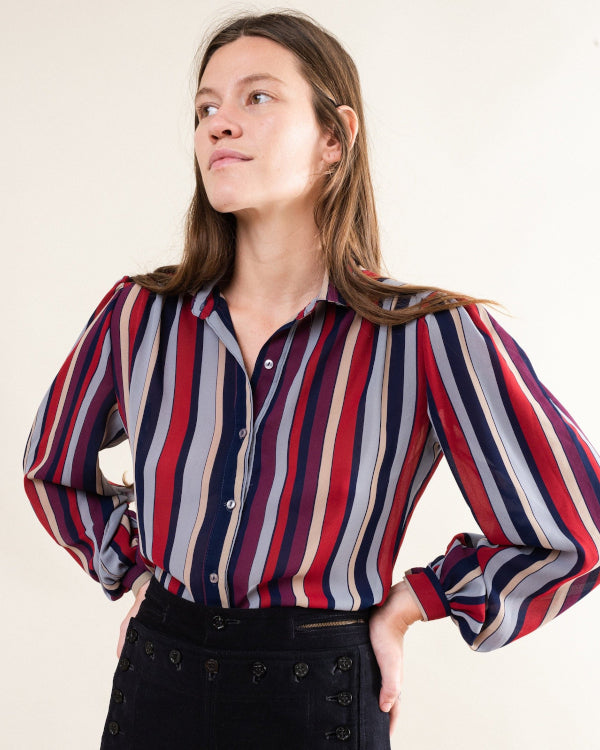 Striped Blouse By Closed Caption