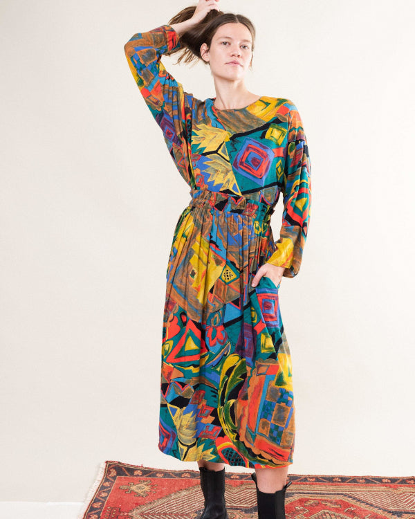 Abstract Thinker Dress By Closed Caption