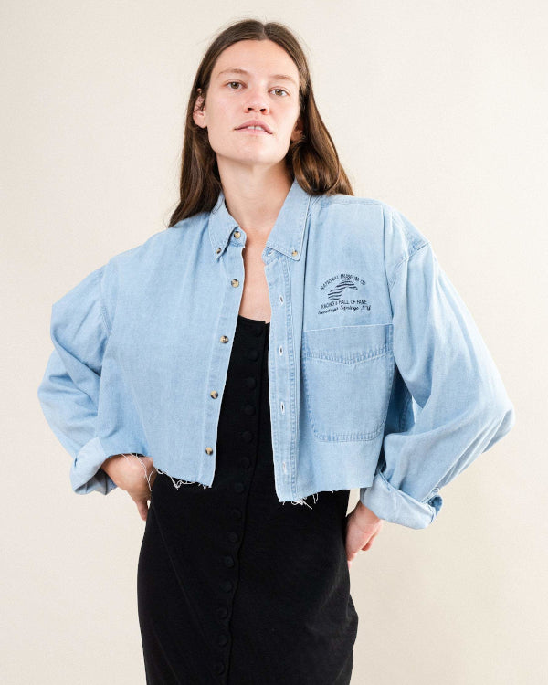 Cropped Jeans Jacket By Closed Caption