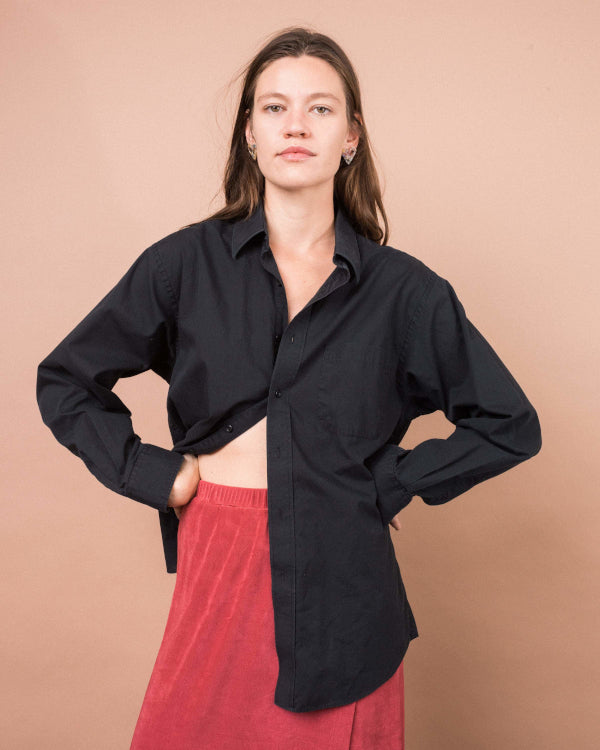 Black Button Up Shirt By Closed Caption