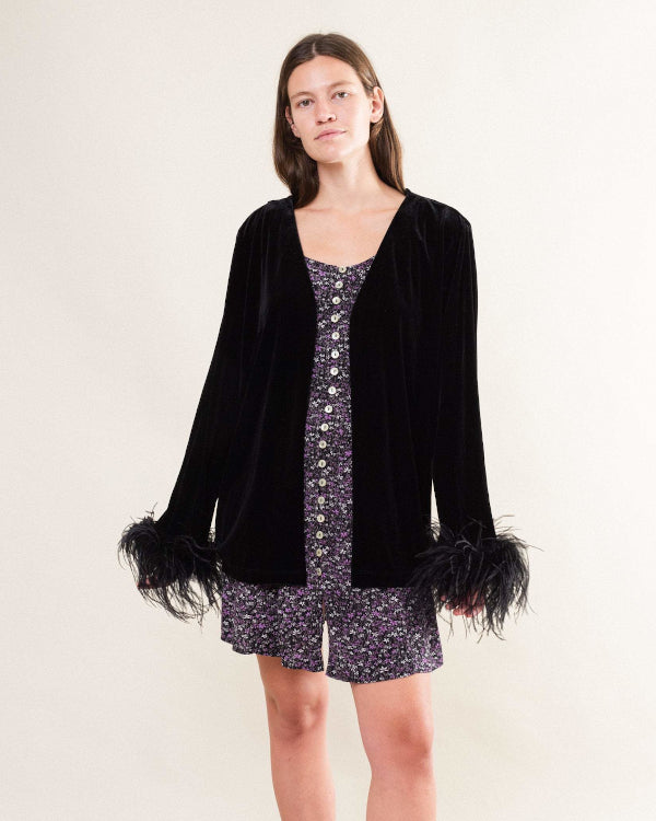Feather Detail Jacket By Closed Caption