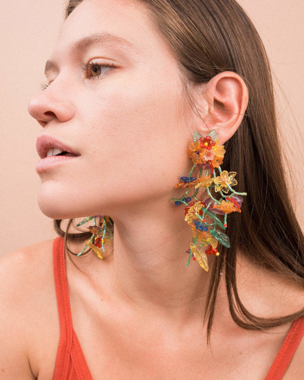Flower Statement Earrings By Closed Caption