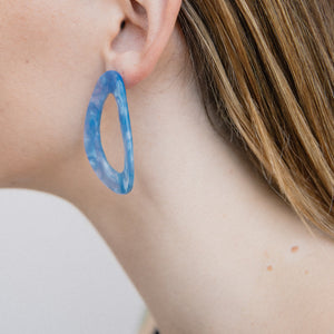 Blue Marble Freeform Earrings - Closed Caption | Shop Vintage. Always Sustainable. Never Wasteful.