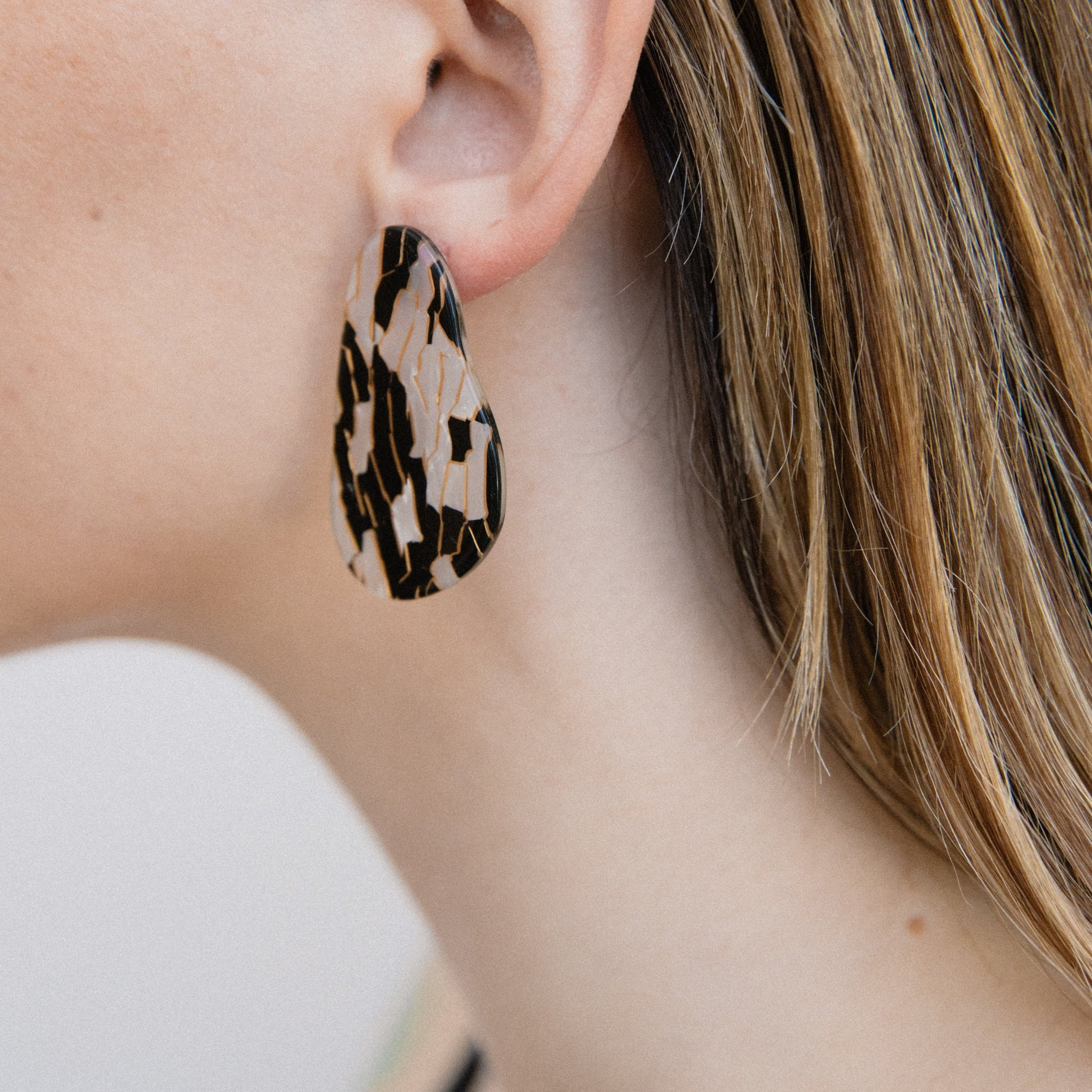 Geometric Abstract Statement Earrings - Closed Caption