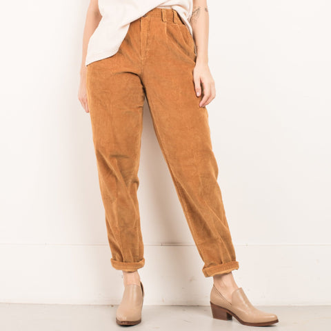 Vintage Butterscotch Corduroy High Rise Tapered Trousers / S/M