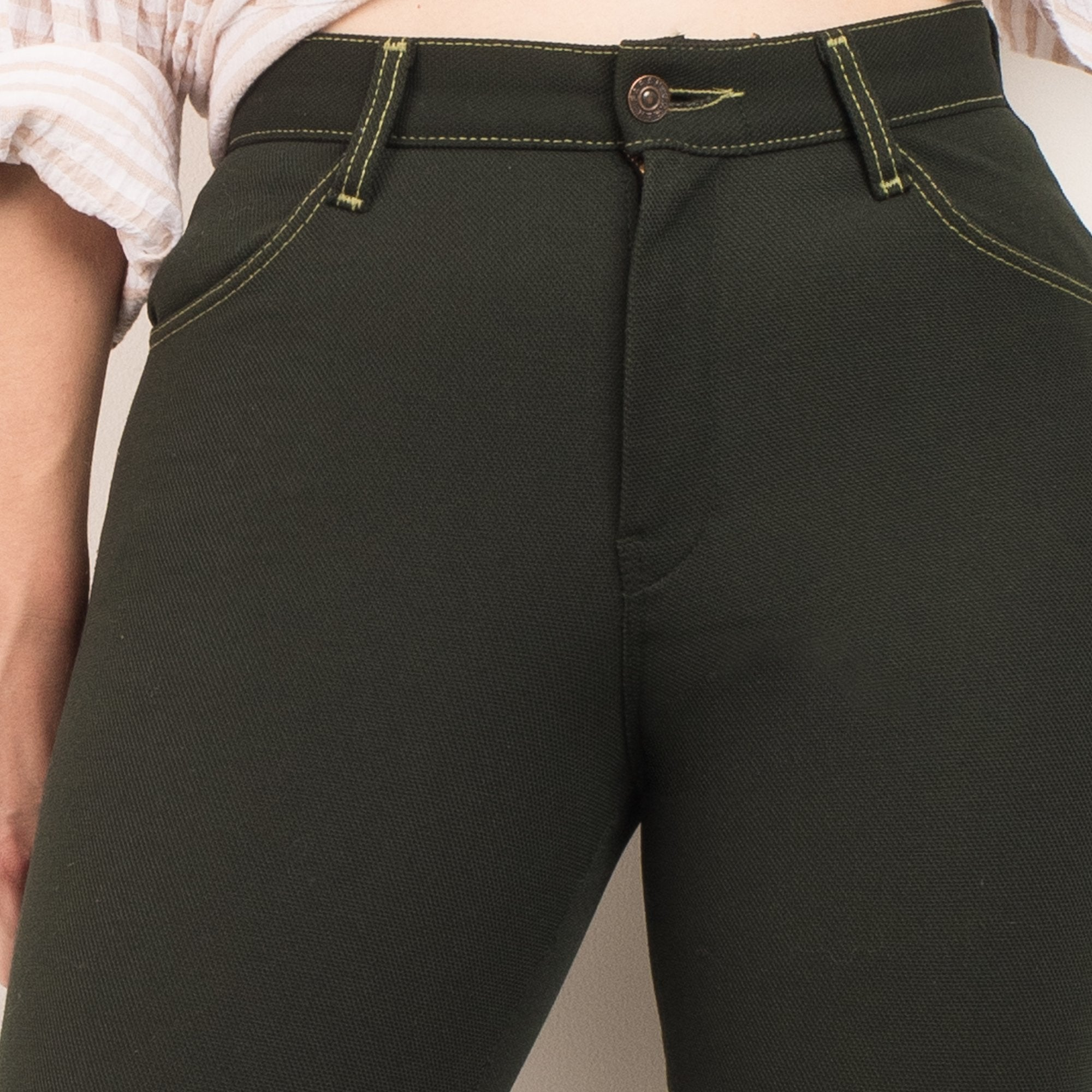 Vintage Forest Green 70s Pants / S - Closed Caption
