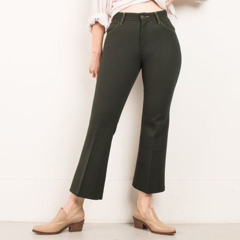 Vintage Forest Green 70s Pants / S