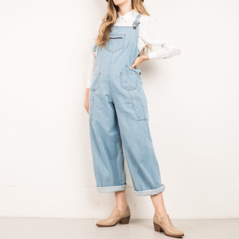 Vintage Light Wash Utilitarian Overalls / S/M
