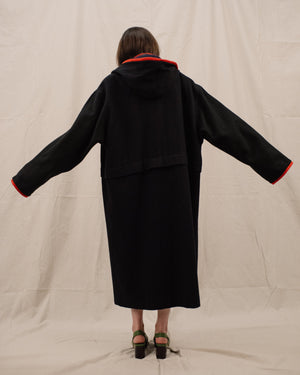 Vintage Oversized Charcoal Coat / S/M - Closed Caption