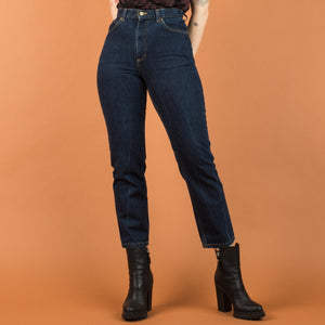 Vintage Dark Wash High Rise Denim Pants / S