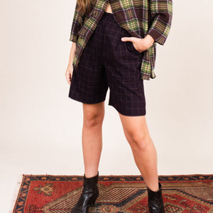 Vintage Checkered Golf Shorts (S/M)