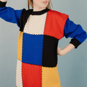 Vintage Oversized BAUHAUS Knit Sweater / S - Closed Caption