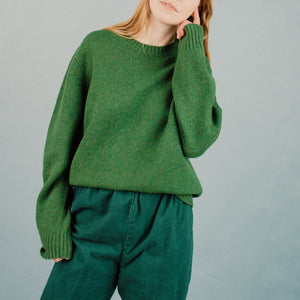 Vintage Grass Green Oversized Wool Sweater / S/M - Closed Caption