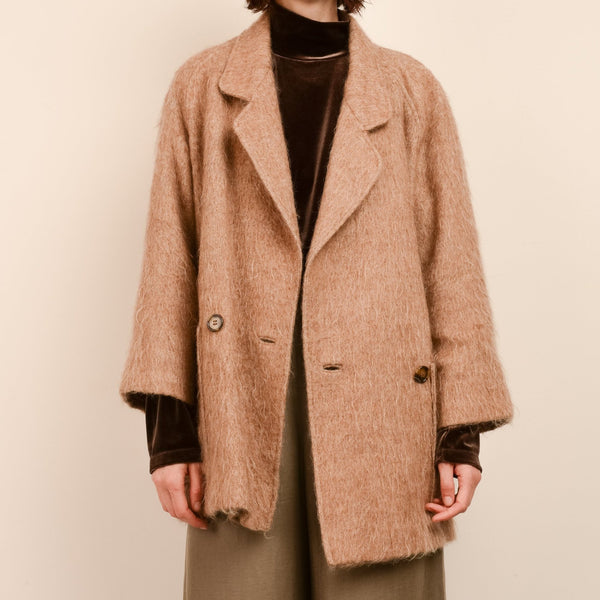 Vintage Camel Wool Short Coat / S